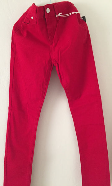 Girls Fashion Red Colored Denim
