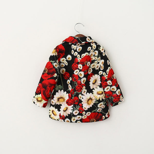 Poppy Floral Girls Coat
