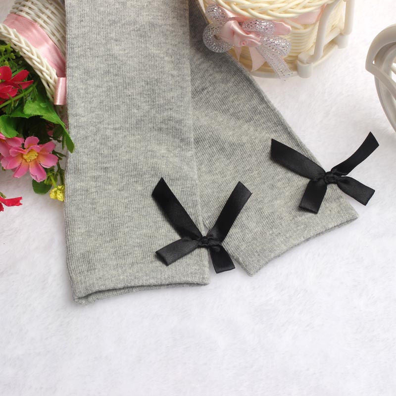 Girls Knee High Socks with Bow