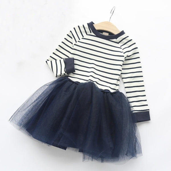 Julia Striped Tulle Dress
