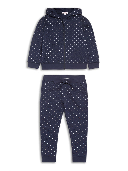 Girls Heart Hoodie and Pant Set