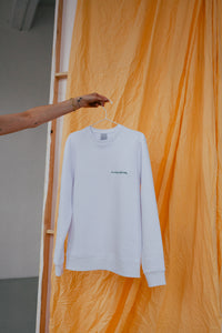 The Sunday Surf Society Sweater White