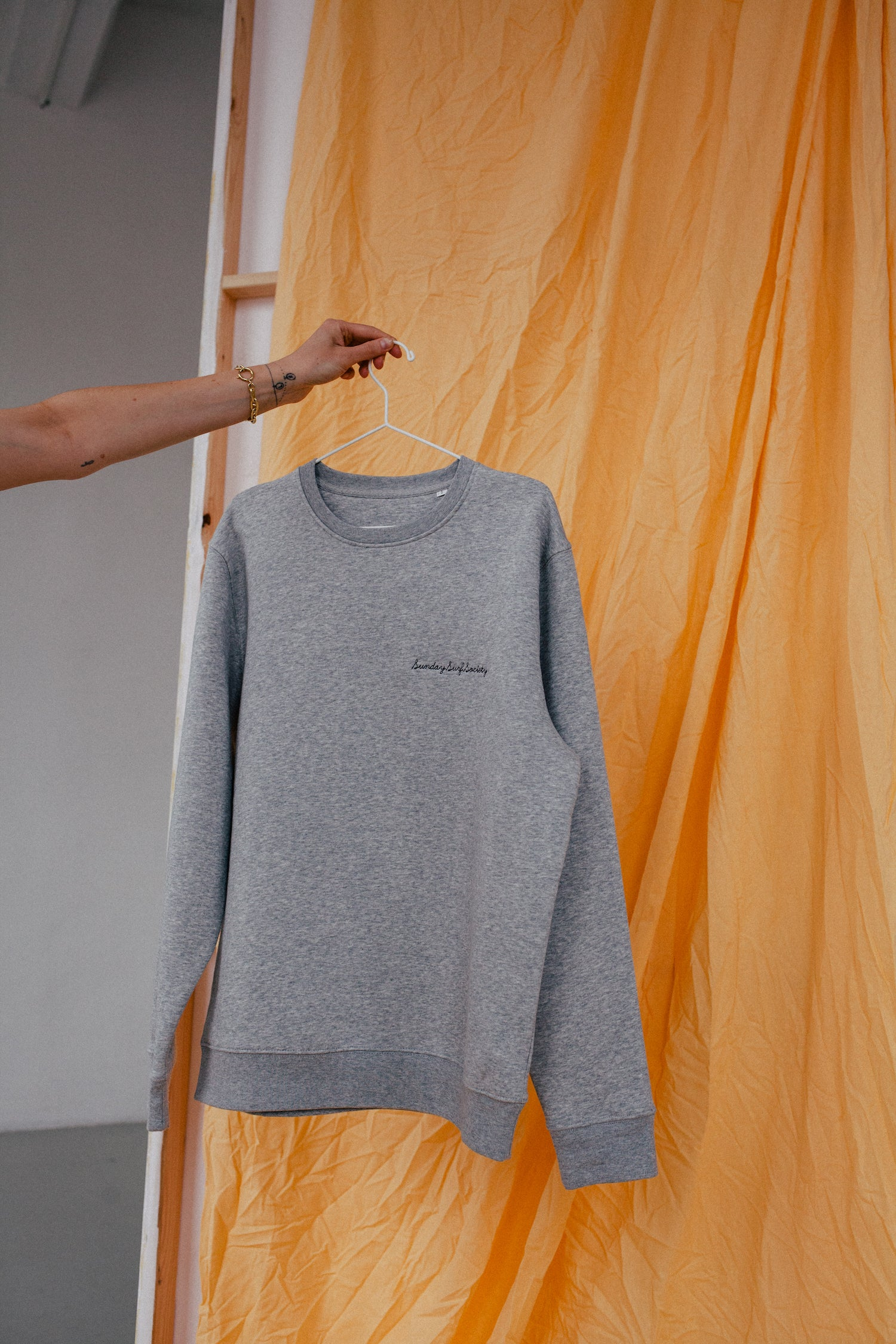 The Sunday Surf Society Sweater Heather Grey