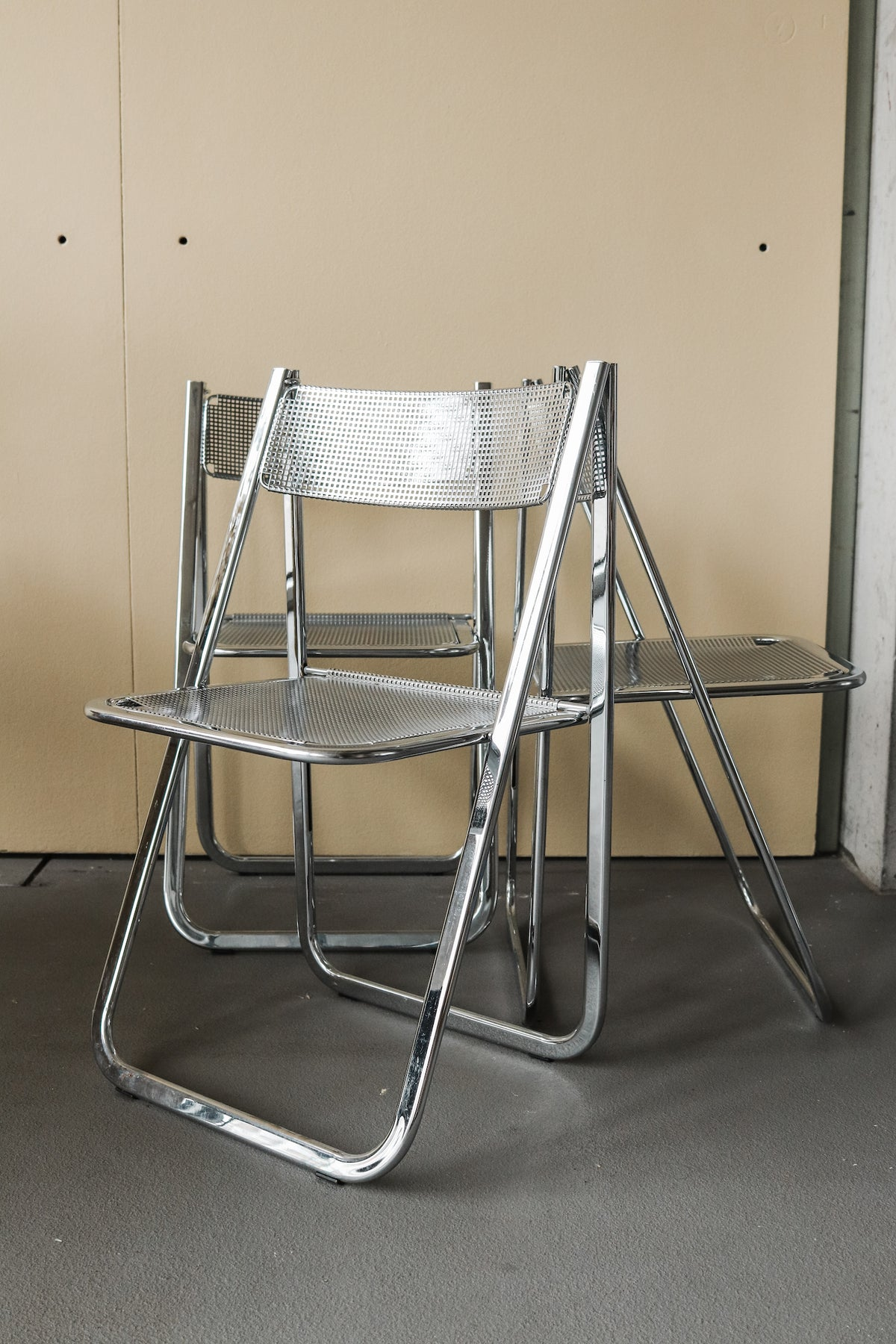 Chrome Folding Chair 'Tamara', Arrben Italy, 1970s