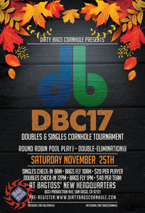 DBC17 CORNHOLE TOURNAMENT ANNOUNCEMENT