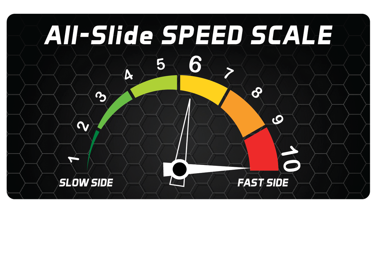 All Slides Cornhole Bag Speed Scale