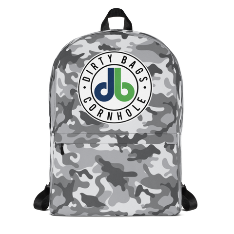 DBC Camo Backpack - Gray and White