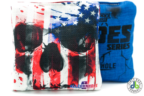 All Slides - American Cornhole Bags - USA Flag Skull