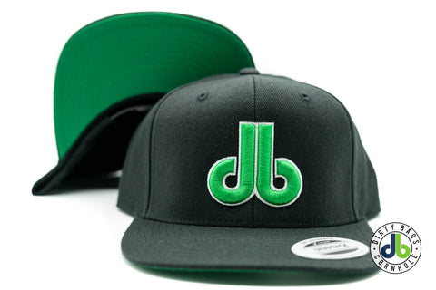 Black and Green db Hat