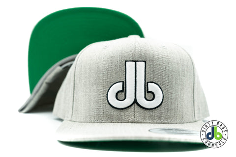 Heather Gray with White and Black db Hat