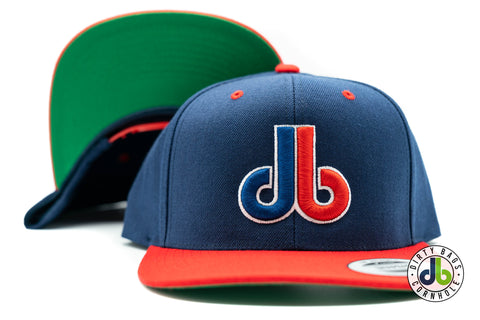 Navy Blue  and Red db Hat