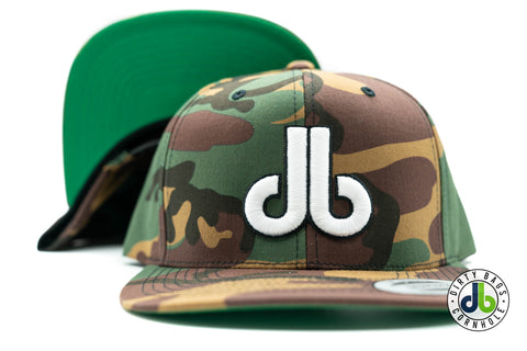 Camouflage with White and Black db Hat