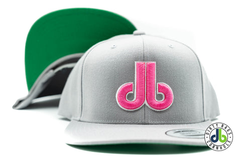 Gray Hat with Pink and White db