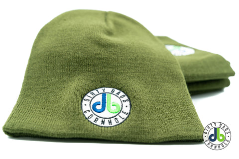 Dirty Bags Cornhole Beanie - Olive Green