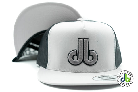 Silver and Black Mesh db Hat