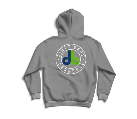 db Hoodie - Heather Gray with Color Logo