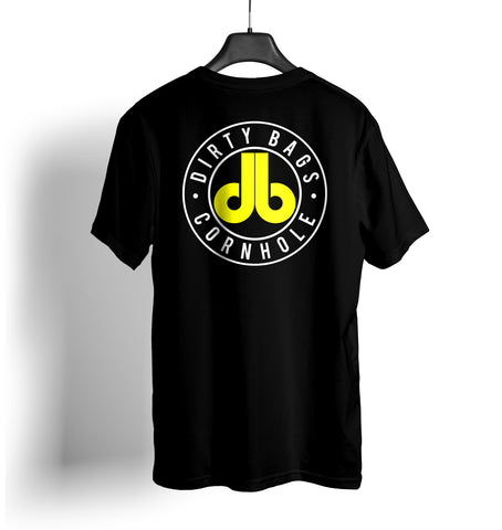 db Cornhole T Shirt - Black and Yellow
