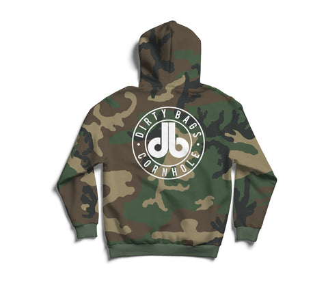 Camouflage Pullover Hoodie - White db Logo