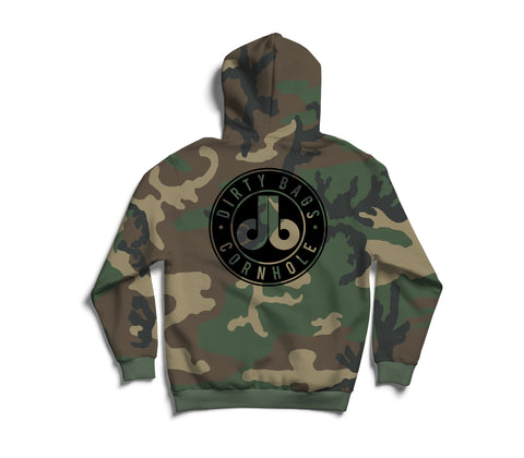 Camouflage Pullover Hoodie - with Blacked out db logo