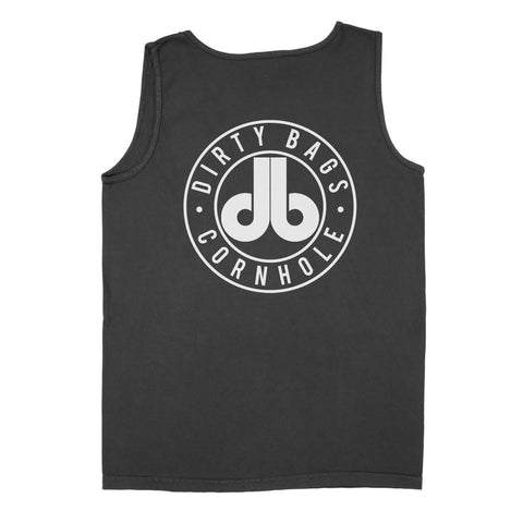 Dirty Bags Mens Tank Top - Navy Blue and White