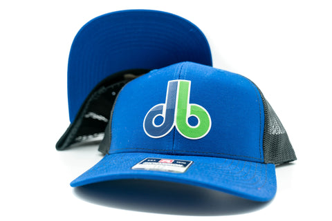 db Beveled Patch Hat - Richardson 112 Blue/Black