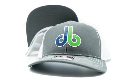 db Beveled Patch Hat - Richardson 112 Gray/White