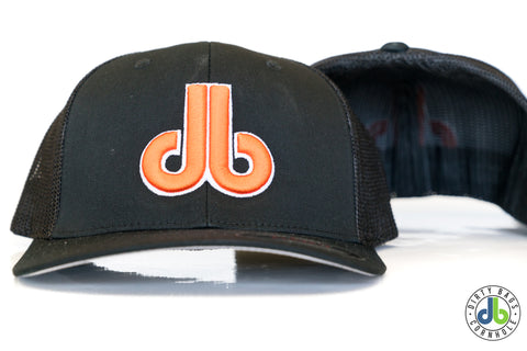 db hat - Black and Orange
