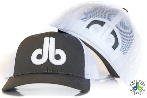 db hat - Gray and White snapback