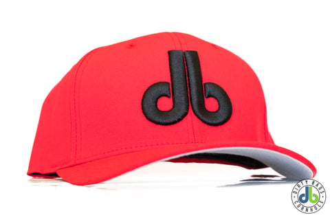 db hat - Red with Black db