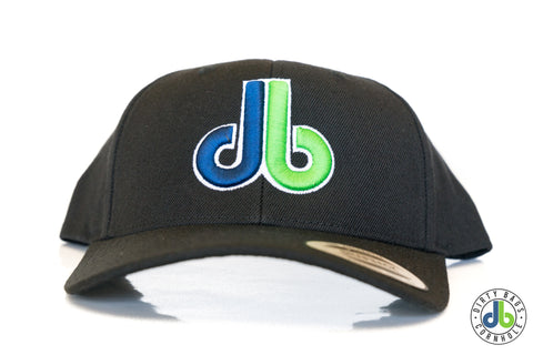 db hat - Black Rounded Bill