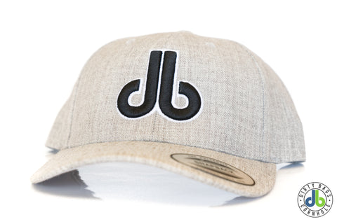 db hat - Heather Gray  Rounded Bill