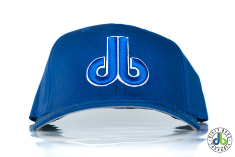db hat - Blue on Blue Round bill