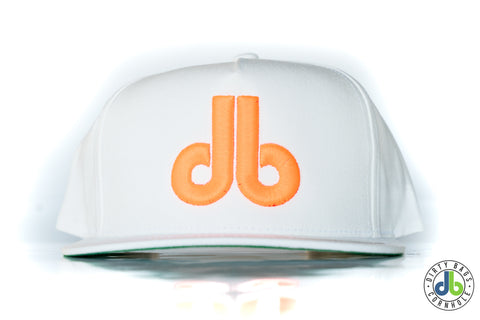 db hat - White and Neon Orange