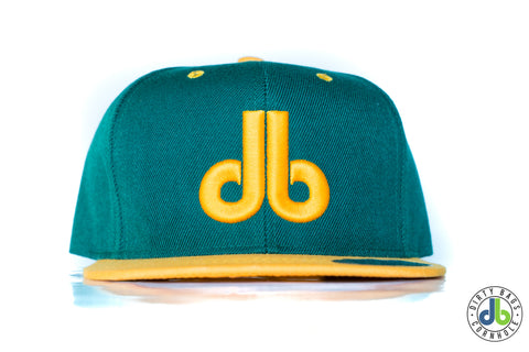 db hat - Green and Yellow