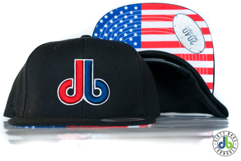 db hat - Red White Blue USA Flag