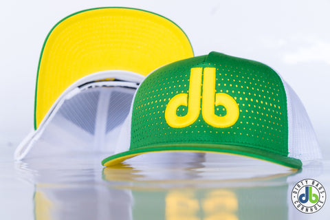 db hat - Green and Yellow fade
