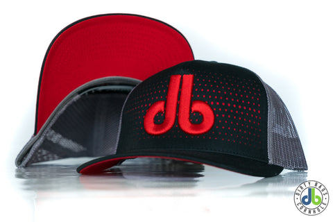 db hat - Black and Red fade