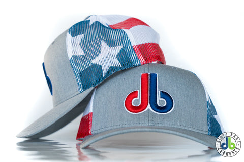 db Hat – Red White and Blue All Over