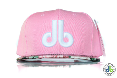 db hat - Pink Flowers