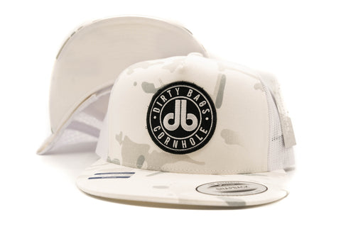 db Black Patch Hat - White Camouflage