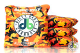 slide rites - orange camouflage dirty bags cornhole