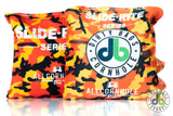 cornhole bags - orange camo slide rites