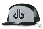db Hat - 7 Panel Black and Gray