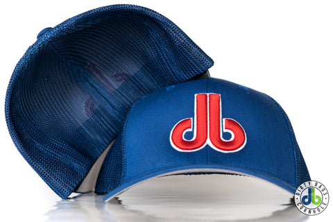 db hat - Blue and Red Mesh Flexfit