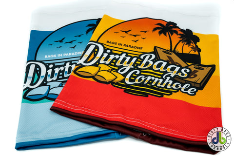 "Dirty Bags Cornhole Gaiter- ""Bags in Paradise"""