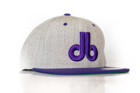 db Hat – Two Tone Gray and Purple