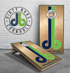 Tournament Cornhole Boards - OG db Logo with White Trim