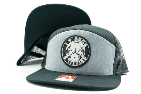 DPL - I LOVE BAGS Hats (Gray 7 Panel)