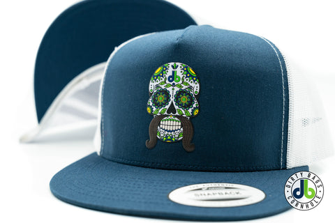 db Sugar Skull Hat - Navy and White Mesh