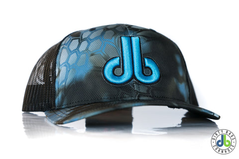 db hat - Black and Turquoise Snakeskin
